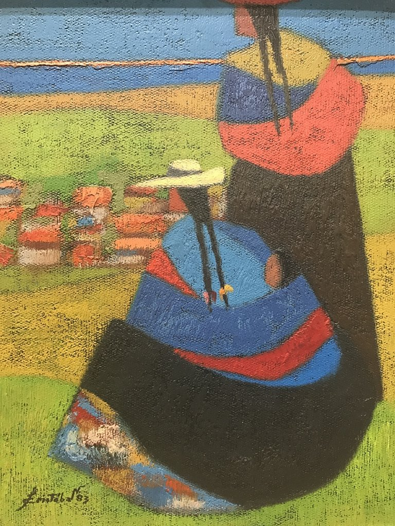 Peruvian painting by Leovigildo Cristobal