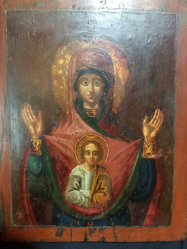 Russian Icon on wood - 2