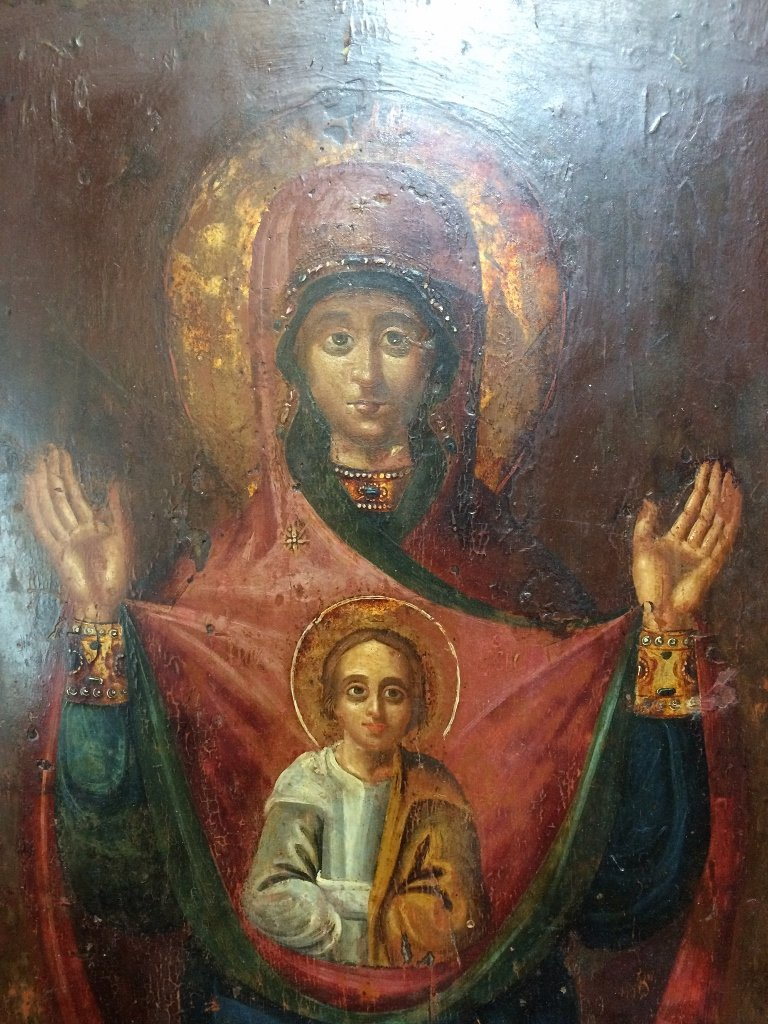 Russian Icon on wood - 3