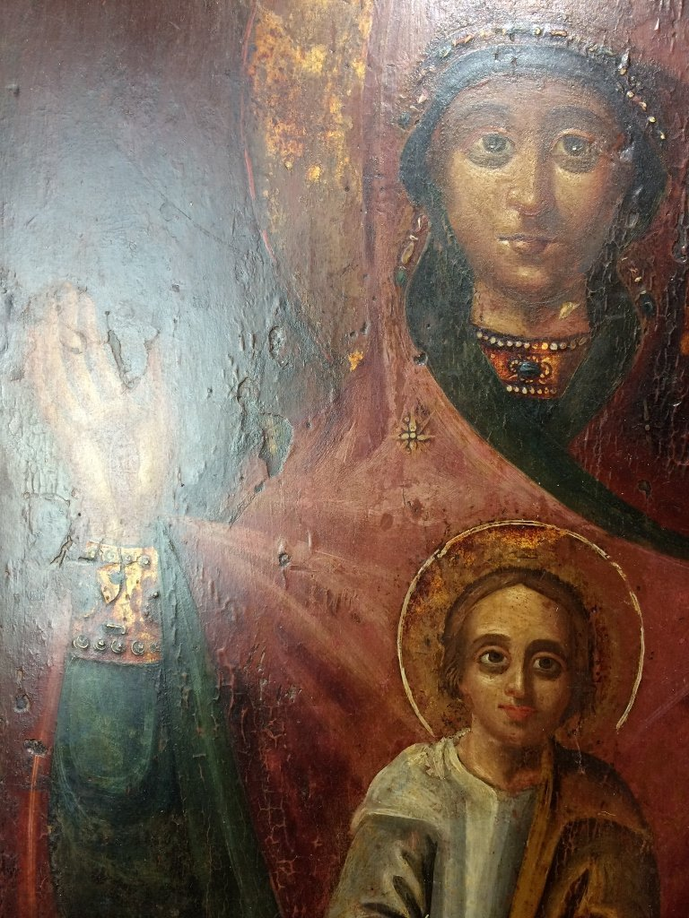 Russian Icon on wood - 7