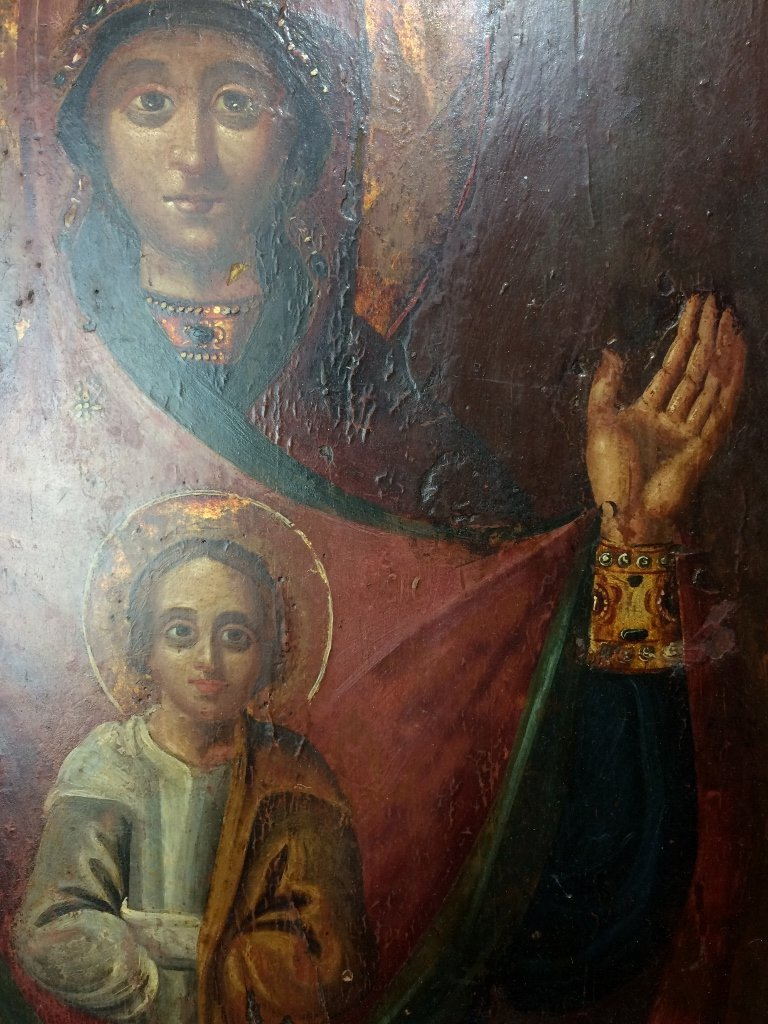 Russian Icon on wood - 8