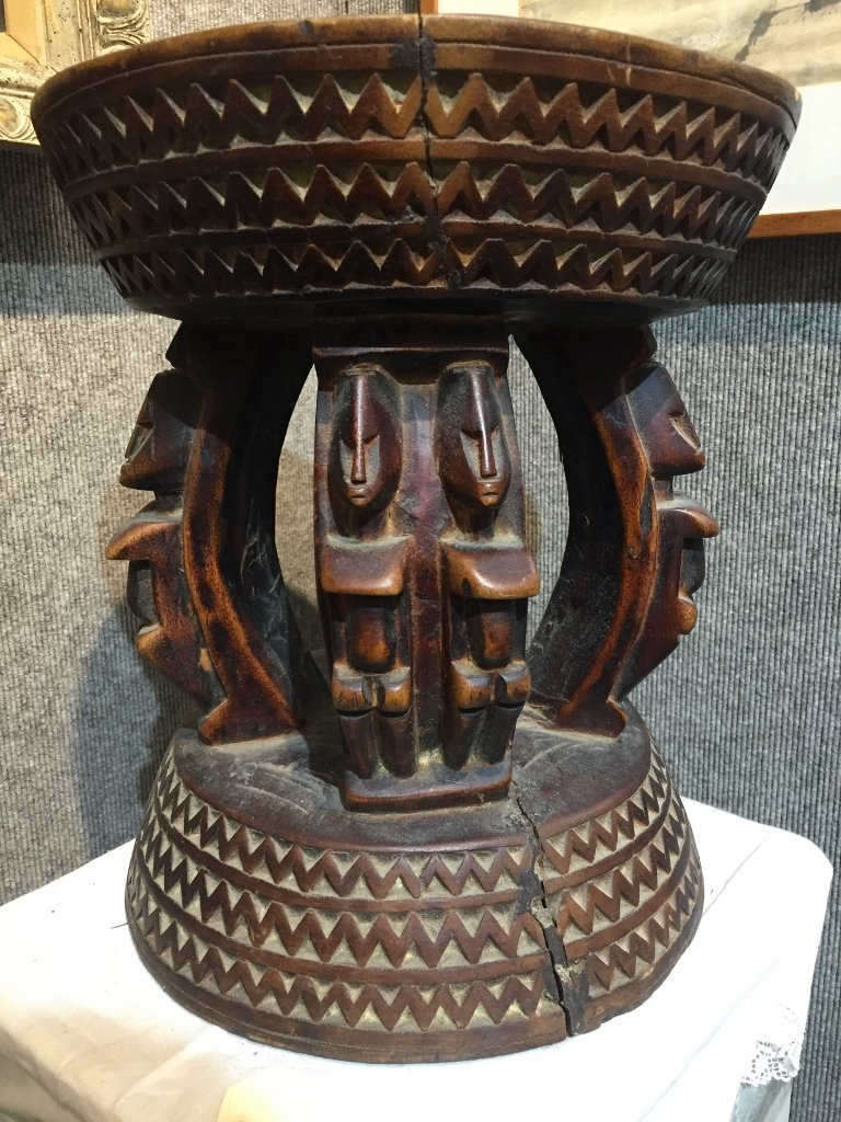 African wood stool