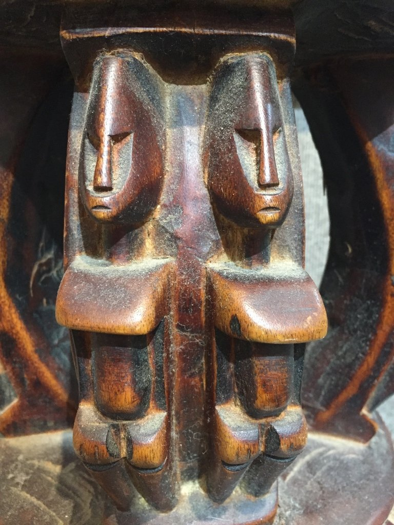 African wood stool - 2