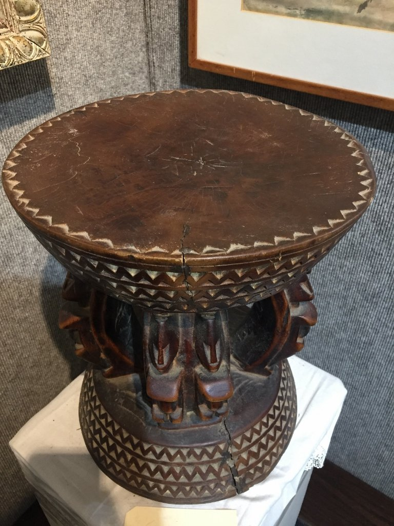 African wood stool - 3
