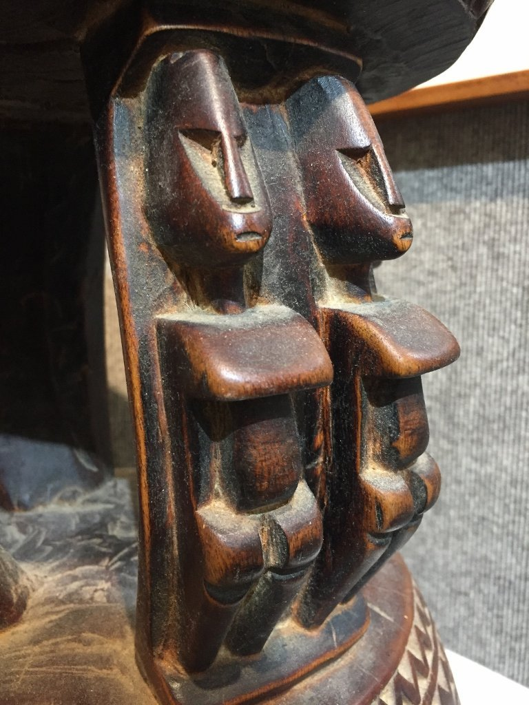 African wood stool - 5