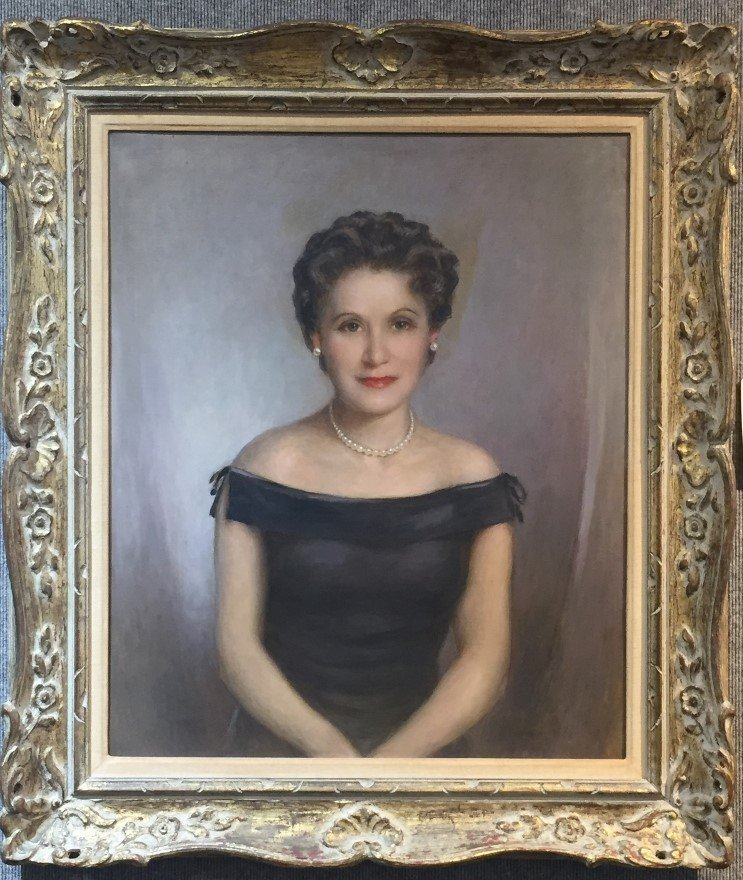Painting of of Barbara Anspach, family owned Algonquin