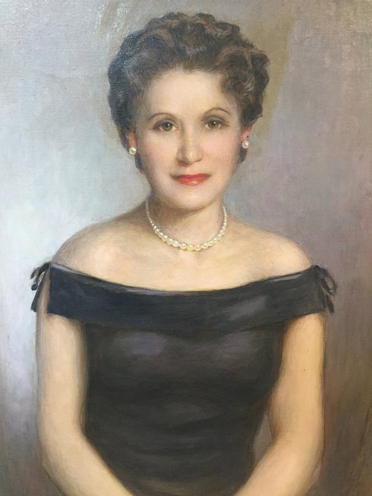 Painting of of Barbara Anspach, family owned Algonquin - 2