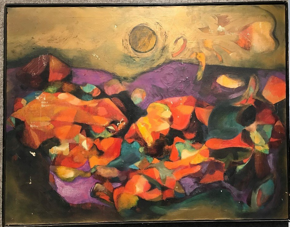 Abstract painting, unsigned, c.1970