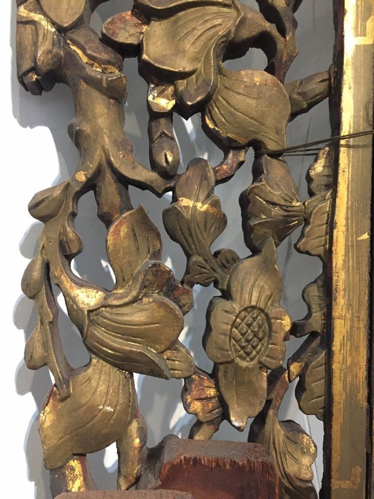 Gilt wood door surrounds, Asian, c.1900