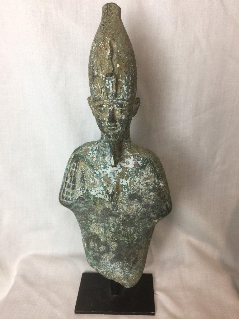 Bronze of Egyptian Pharaoh