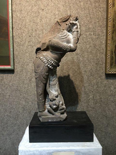 Indian grey schist fragment, Rajasthan, 11th century
