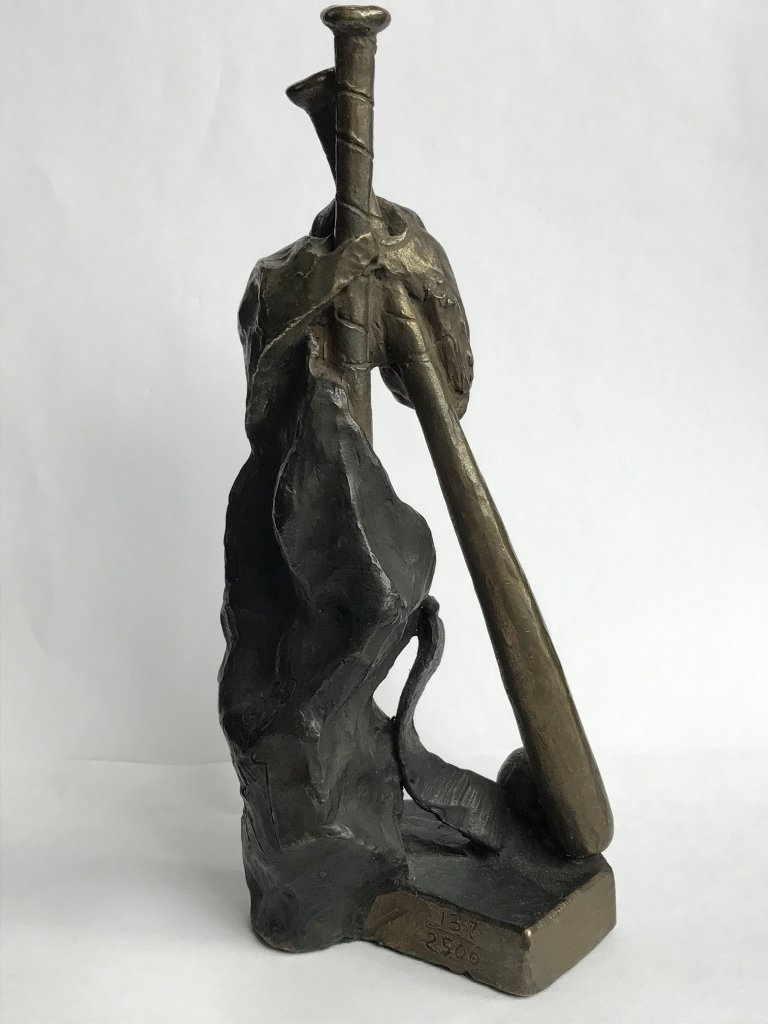Baseball bronze by Mark Hopkins - 6