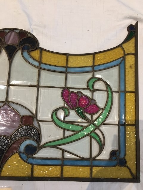 Stained glass window for transom - 2