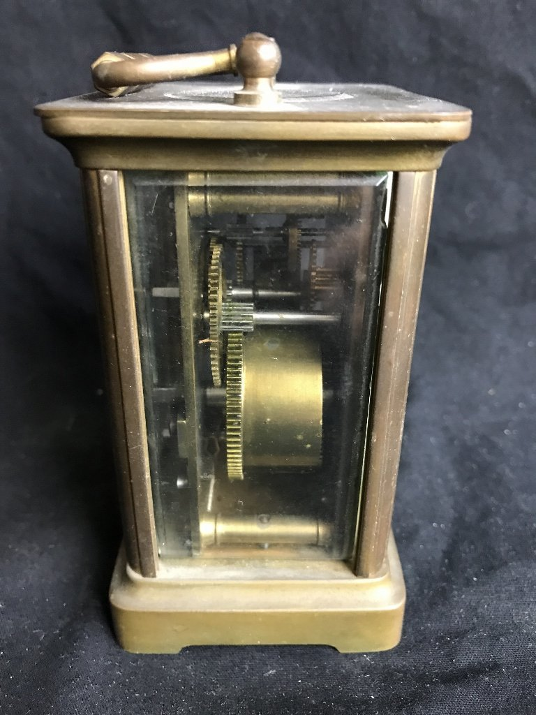 Carriage clock with bell, c.1910 - 4