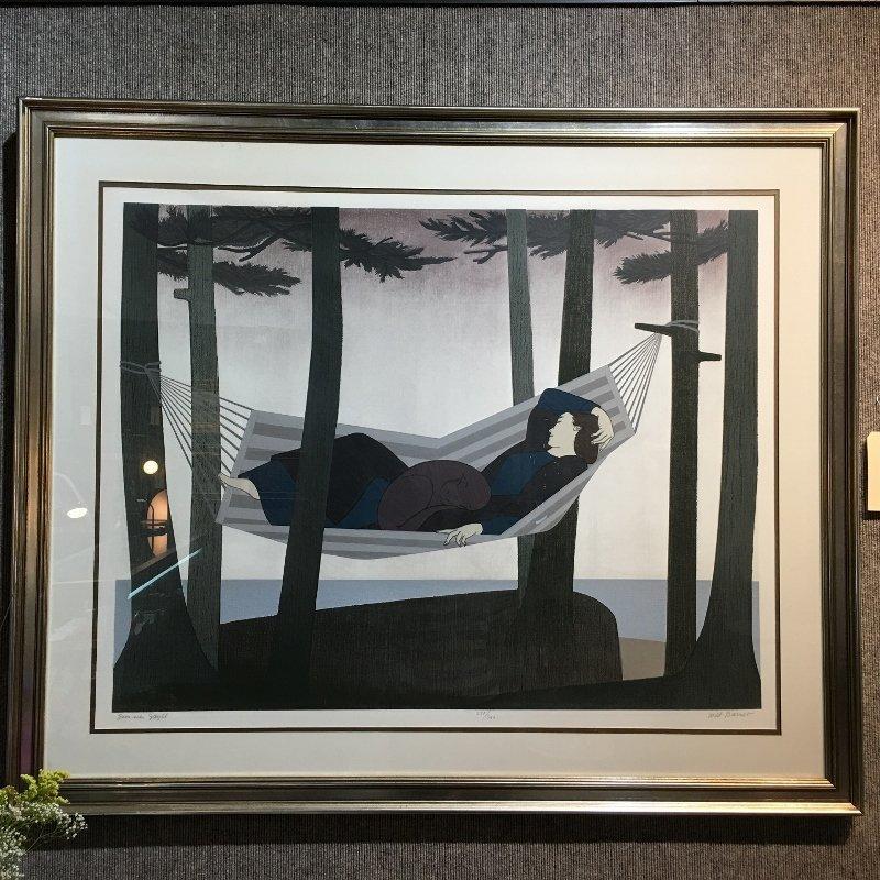 """Will Barnet lithograph, """"Summer Idyll"""""""