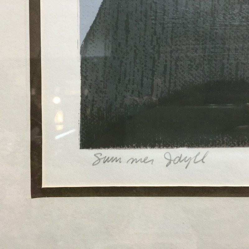 """Will Barnet lithograph, """"Summer Idyll"""" - 2"""