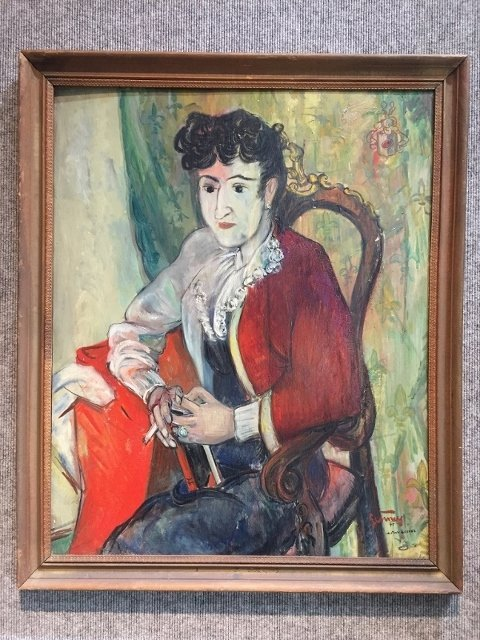 Painting of C.Mendoza by Bob Gesinus-Visser
