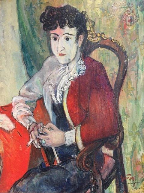 Painting of C.Mendoza by Bob Gesinus-Visser - 2