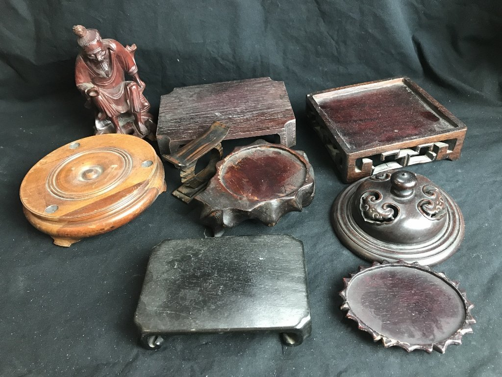 Box lot-Chinese wood stands