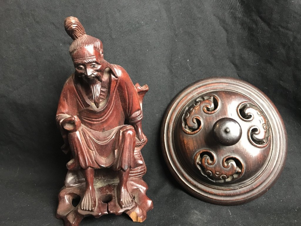 Box lot-Chinese wood stands - 3