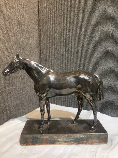 1940 silver plate horse trophy