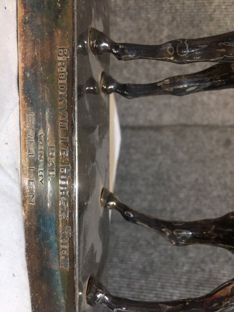 1940 silver plate horse trophy - 5