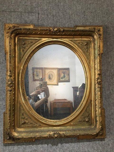 Gilt wood Victorian mirror