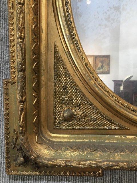 Gilt wood Victorian mirror - 2