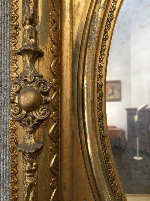 Gilt wood Victorian mirror - 3