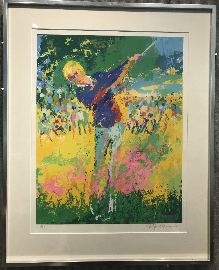 One serigraph of Jack Nicklaus by Leroy Neiman