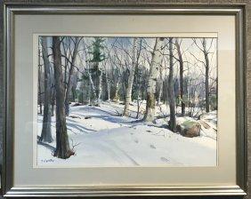 One W.coior of snow by Bernard Gerstner(American 20th )