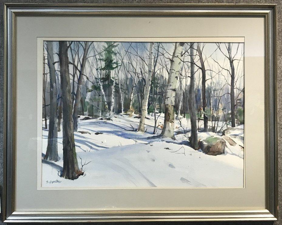 One w.color of snow by Bernard Gerstner(American 20th )