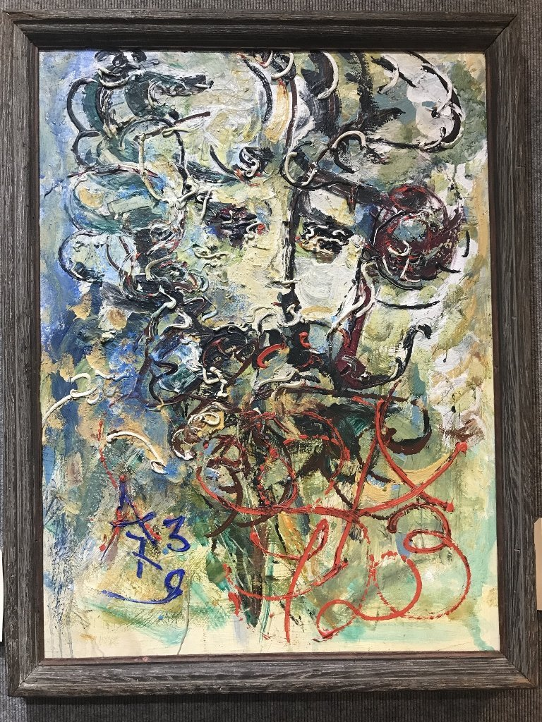 """One painting signed """"AZ '79""""possibly by Anatoly Zverev"""
