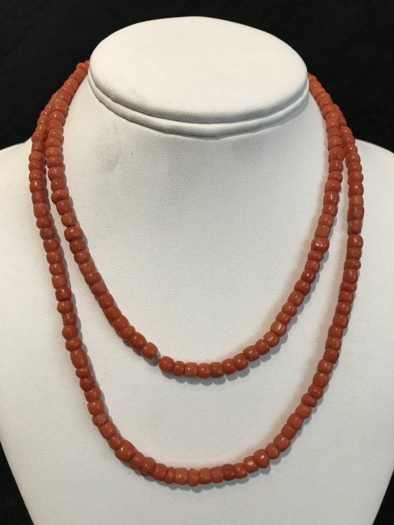 Coral beads-GIA no dye