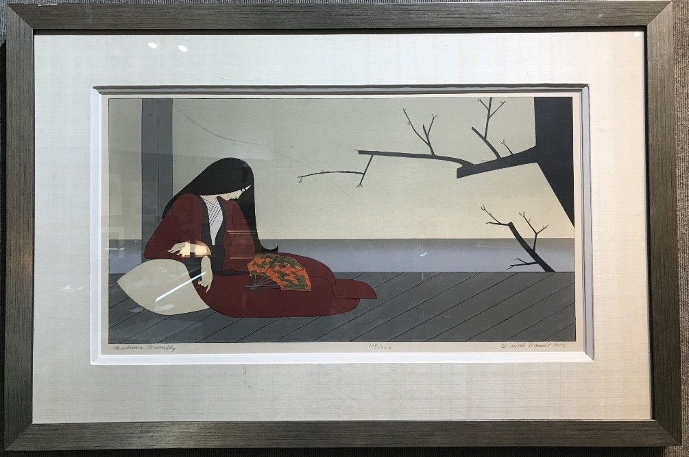 """""""Madame Butterfly"""" color lithograph, Will Barnet"""