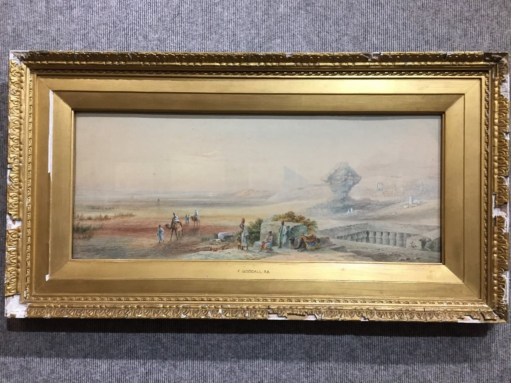 Watercolor of Egypt by Frederick Goodall(19th cen)