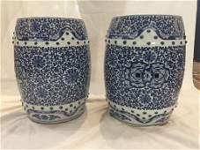 Pair of Chinese porcelain garden seats c19201940