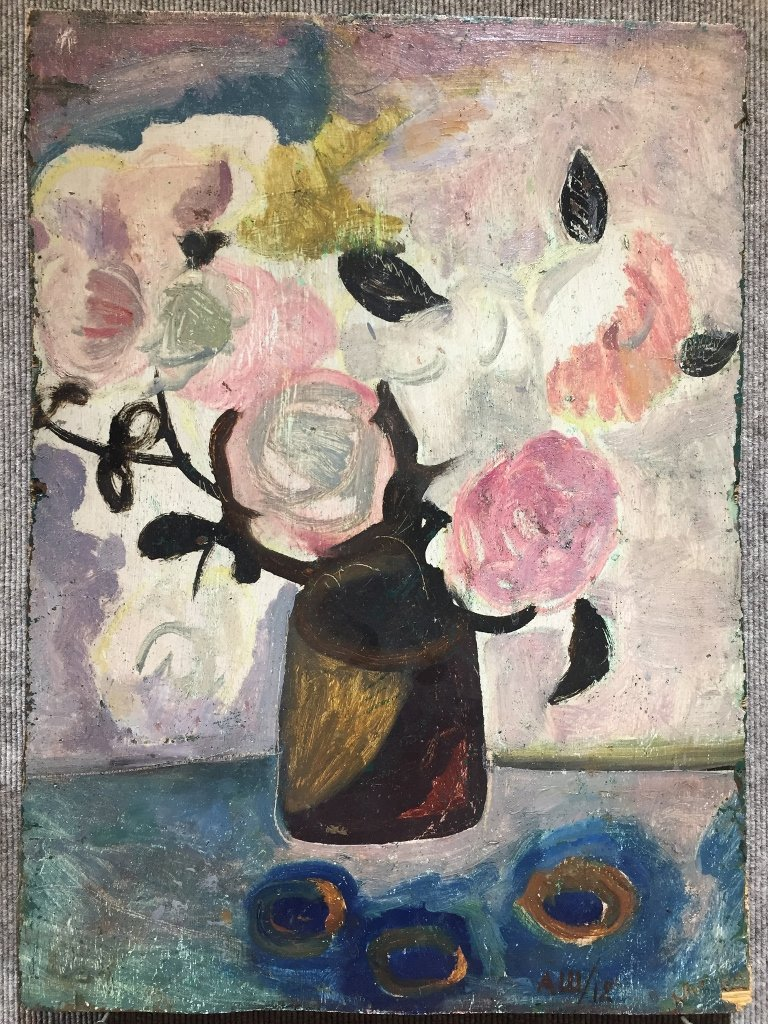 Floral ptg possibly by A.V.Shevchenko, 1912-signed