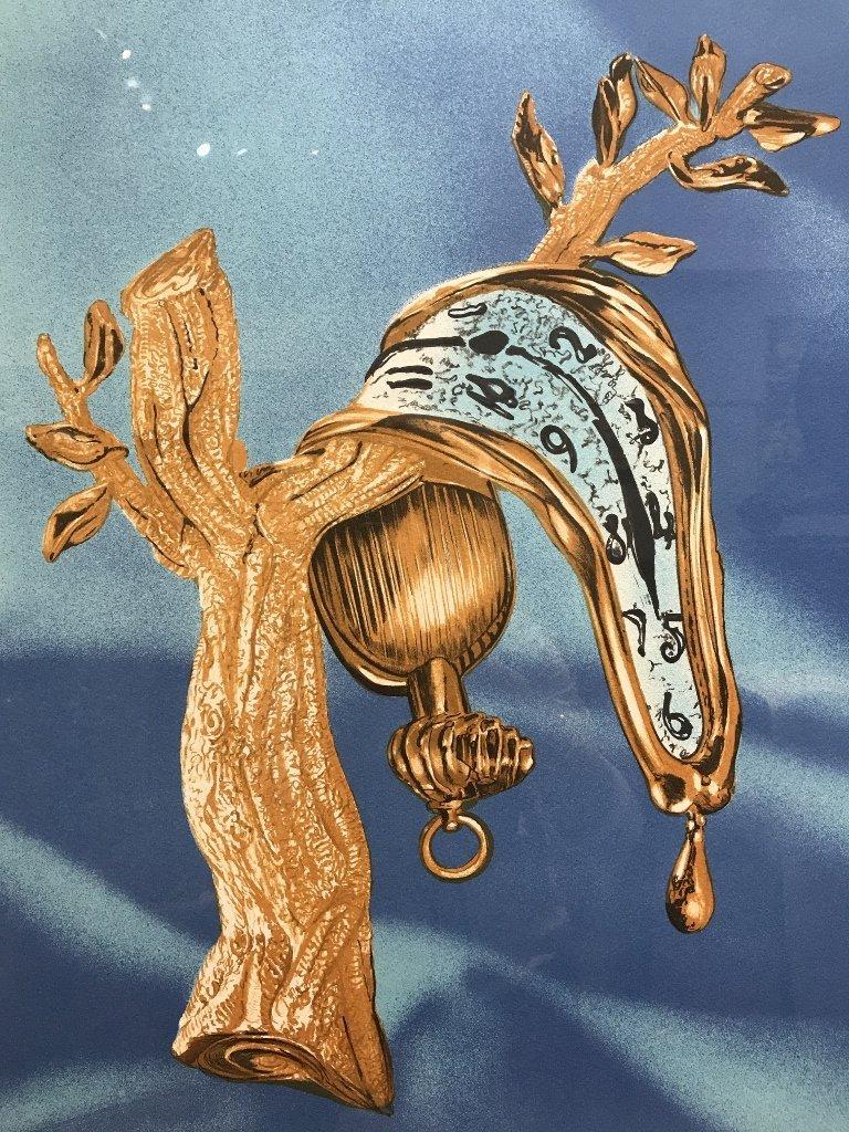 Melting watch litho signed Dali, numbered 3/300