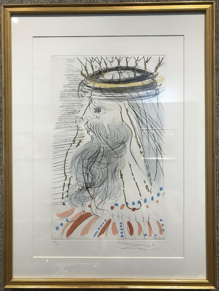 Head of a King, litho signed Dali, numbered 100/250.