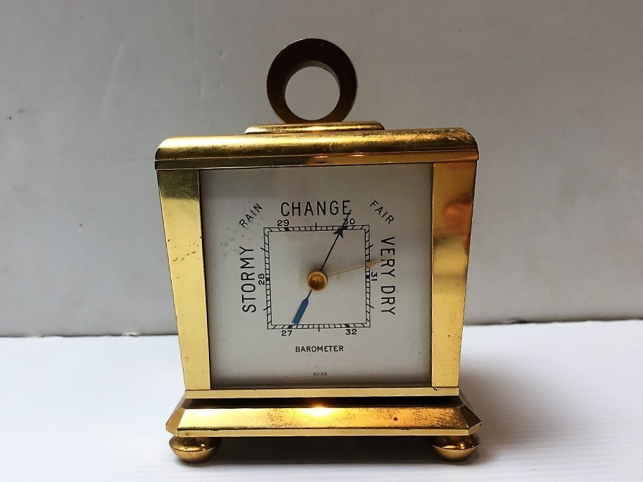 Tiffany desk clock and barometer