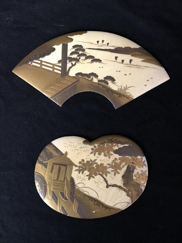 Japanese lacquer, c.1880(2 pieces)
