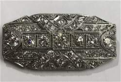 Platinum diamond Edwardian brooch with bale