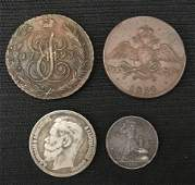 Four old Russian coins-Ambassador Estate
