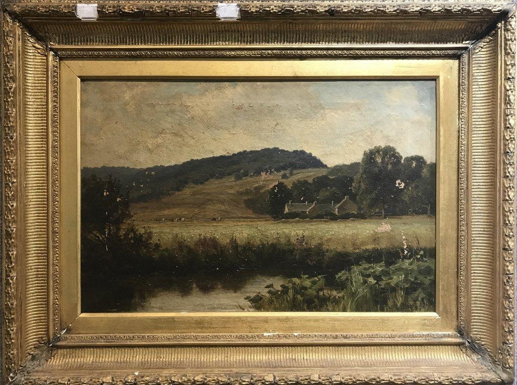19th century landscape ptg by James Elliot(Scottish).