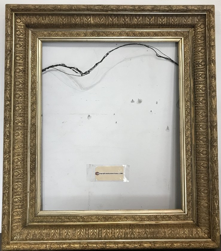 Large gilt wood picture frame, c.1880