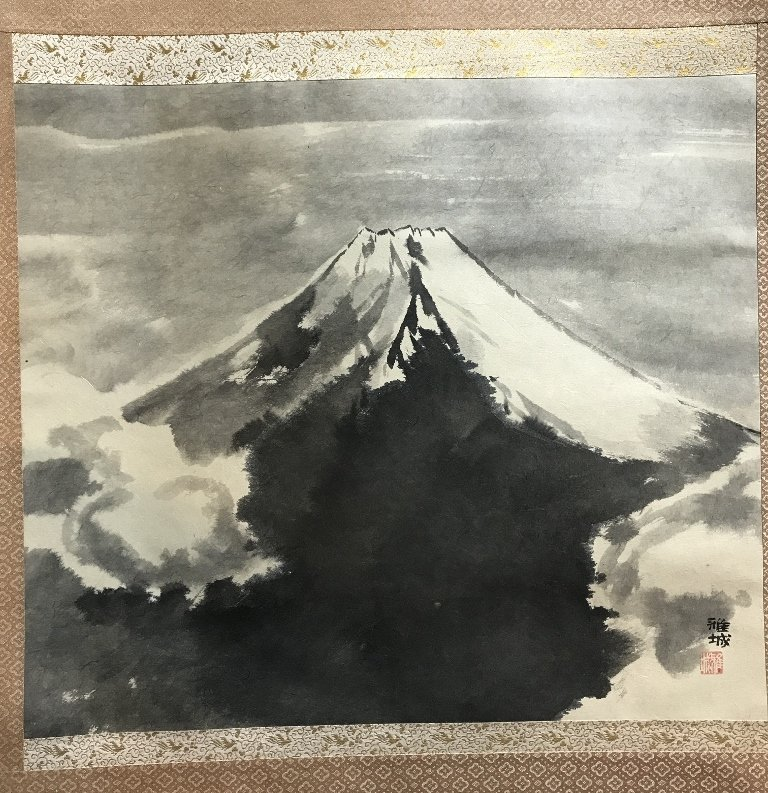 Mount Fuji landscape scroll by Masaki, 20th cen