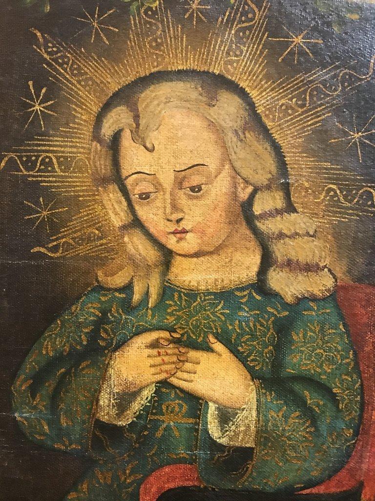 Cuzco painting of Christ child, c.1900