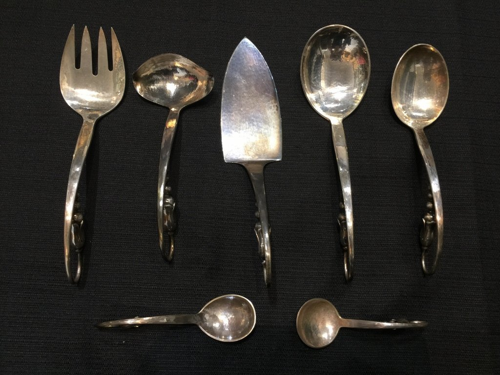 Sterling serving pieces by Orla Morgensen 17 t.oz
