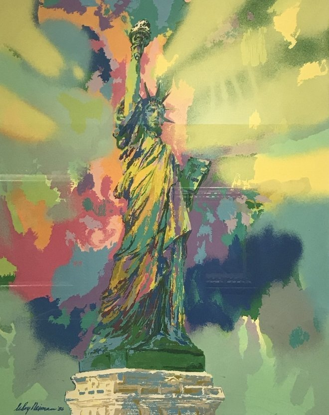 """Lady Liberty"" serigraph by Leroy Neiman"